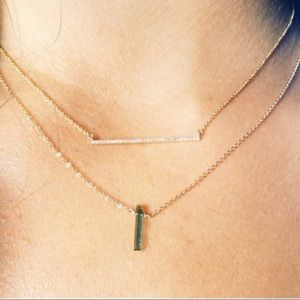 ByChari Tourmaline gold necklace